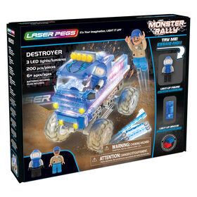 Collection Rallye Monster de Laser Pegs - Destroyer