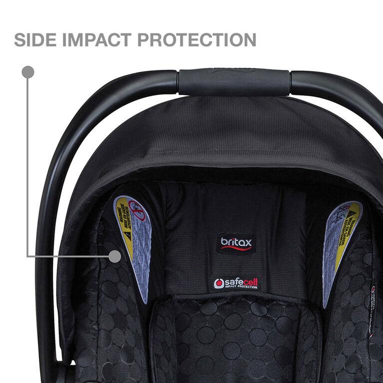 Siège d'auto pour bébé BOB B-Safe 35 de Britax - Noir.