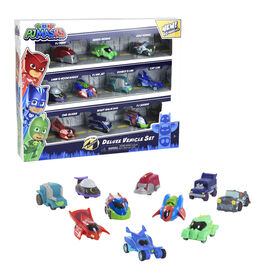 PJ Masks Nighttime Micros Deluxe Vehicle Set - English Edition