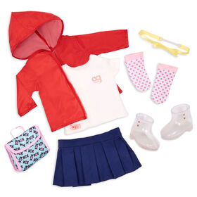 Our Generation, Rainy Recess, Rainy Day School Outfit for 18-inch Dolls