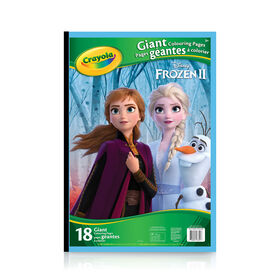Pages à colorier géantes Crayola La Reine des neiges 2 Disney