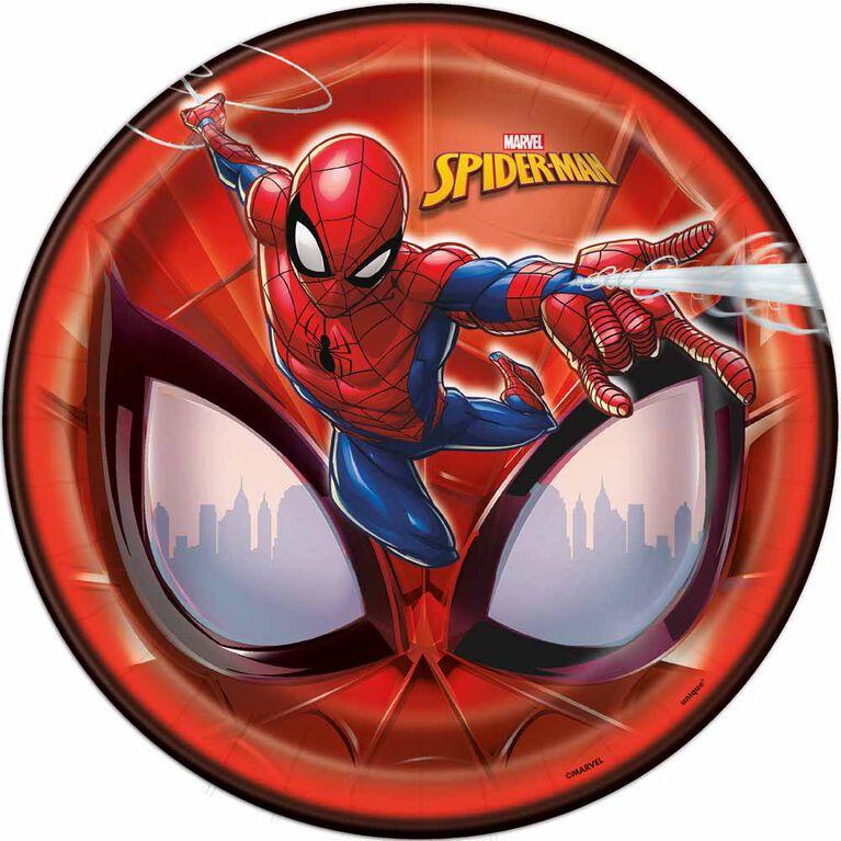Spider-Man Assiettes 9po, 8un