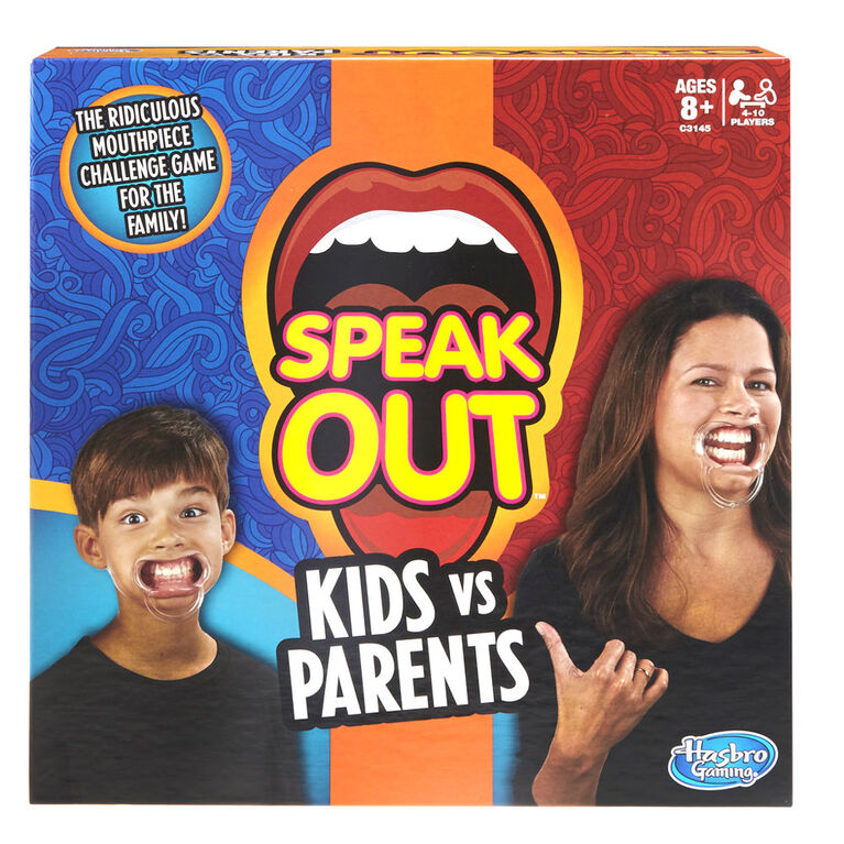 Hasbro Gaming - Speak Out Kids vs Parents Game - English Edition