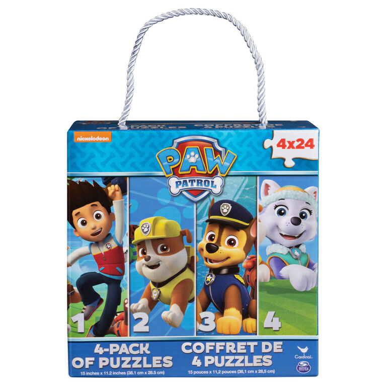 Nickelodeon PAW Patrol 4-Pack of Puzzles