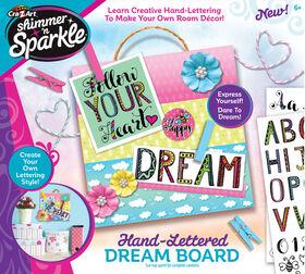 Shimmer and Sparkle Hand lettered Inspiration Board