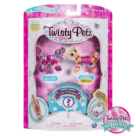 Twisty Petz, Series 2, Pack de 3 - Bijoux à collectionner Rosie Poodle, Chi-Chi Cheetah et animal surprise.