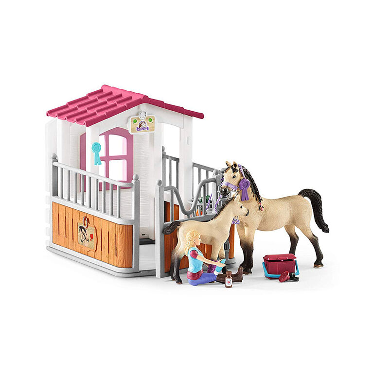 Schleich Horse Club - Horse Stall with Arab Horses