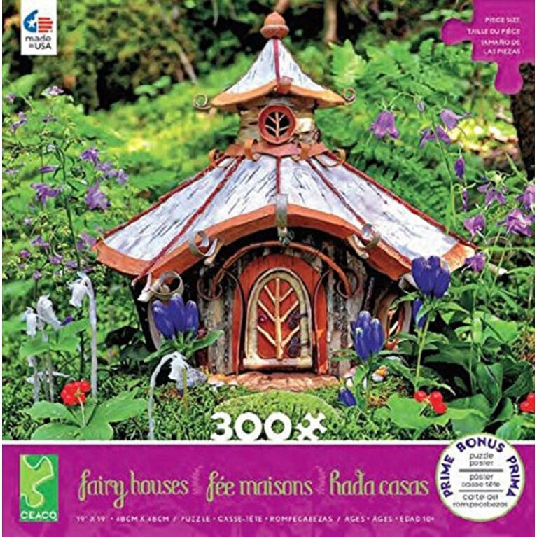 Ceaco: Fairy Houses - Golden Cottage Jigsaw Puzzle (300pc)