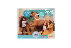 Petite Poupée et Cheval Spirit - Lucky et Spirit. - Notre Exclusivité