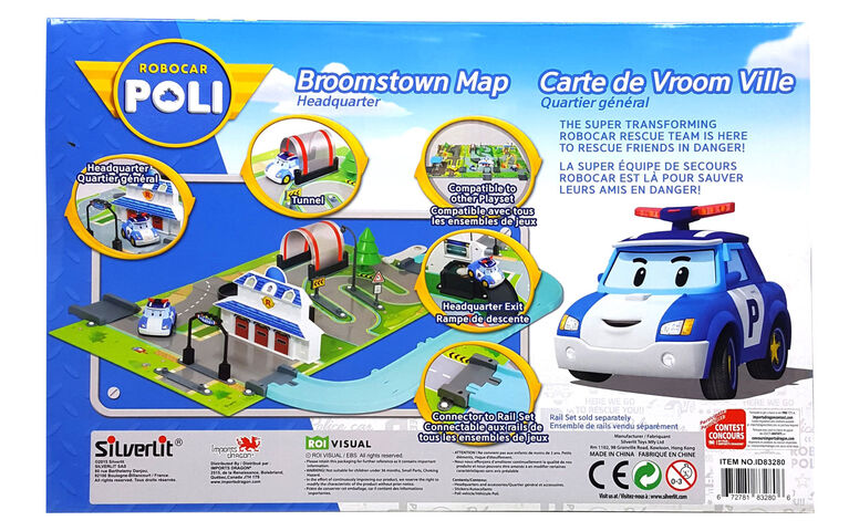 Robocar Poli - Carte de Vroom Ville : Quartier Général