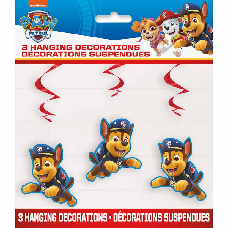 "Paw Patrol Hanging Decor 26"", 3 pieces"