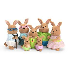 Cottonball Lapins, Li'l Woodzeez, Ensemble de petites figurines de lapins
