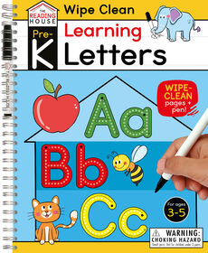 Learning Letters (Pre-K Wipe Clean Workbook) - Édition anglaise