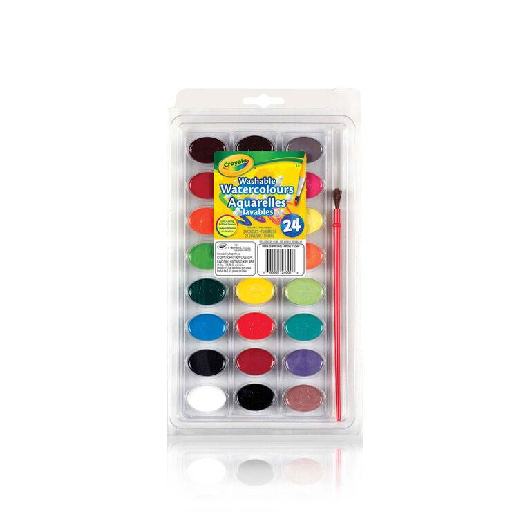 24 couleurs à l'eau lavables Crayola