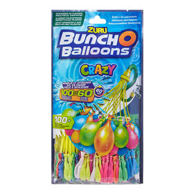 Crazy Bunch O Balloons 100 Rapid-Filling Self-Sealing Water Balloons (3 Pack) by ZURU