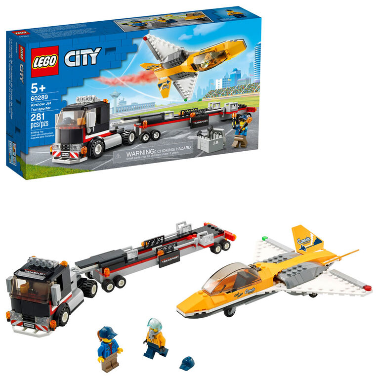LEGO City Great Vehicles Airshow Jet Transporter 60289