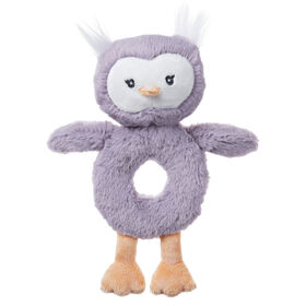 Baby GUND, Hochet hibou Toothpick de 19 cm en peluche, violet