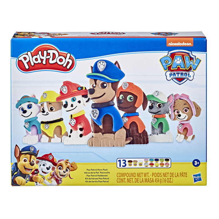 Play-Doh PAW Patrol Hero Pack Arts and Crafts Toy with 13 Non-Toxic Play-Doh Colors