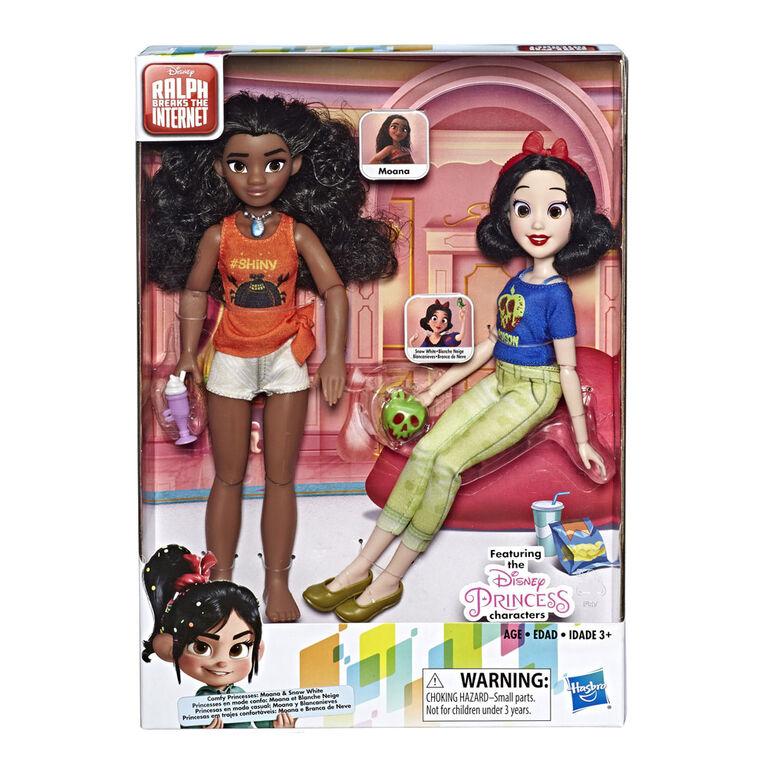 Disney Princess - Poupées Moana et Blanche-Neige inspirées du film Ralph brise l'Internet