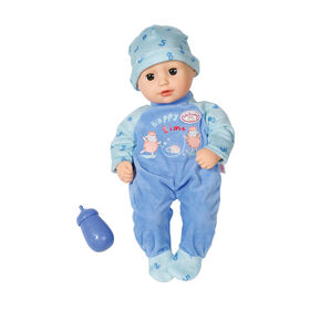 Baby Annabell Little Alexander 36cm with sleeping eyes, romper and hat - R Exclusive
