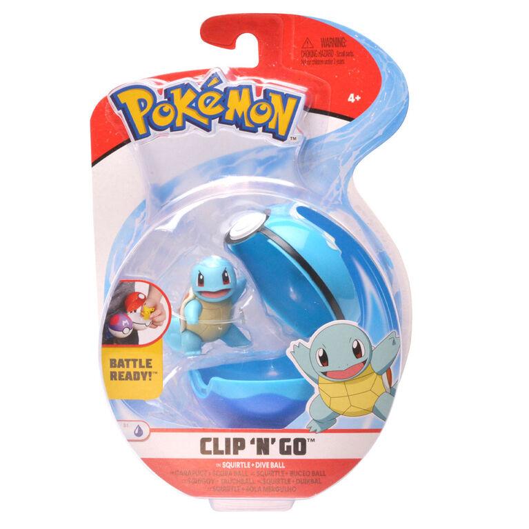 Pokémon Clip 'n' Go - Squirtle #1 & Dive Ball