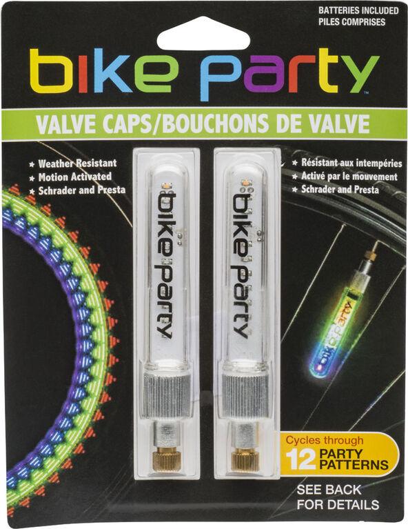 Bike Party Graphic Effect Valve Caps
