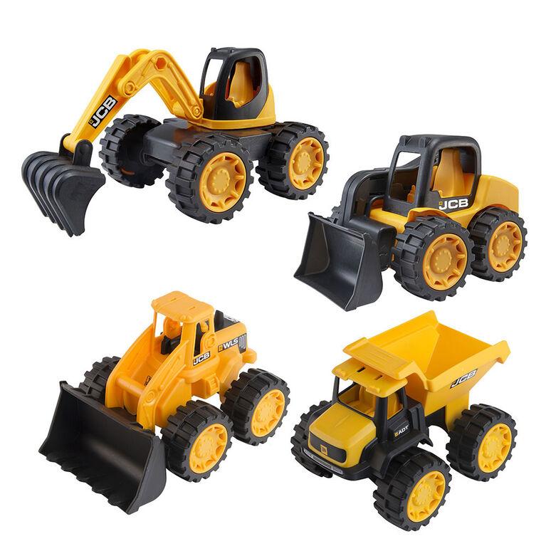 JCB - Mini Trucks - 4 Pack