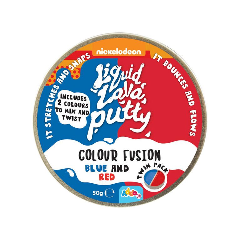 Nickelodeon Liquid Lava Putty Colour Fusion Blue and Red - Notre exclusivité