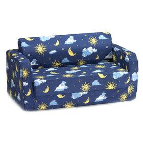 Comfy Kids Flip Sofa - Moon & Stars