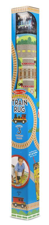 Tapis de train autour des rails de Melissa & Doug - les motifs peuvent varier