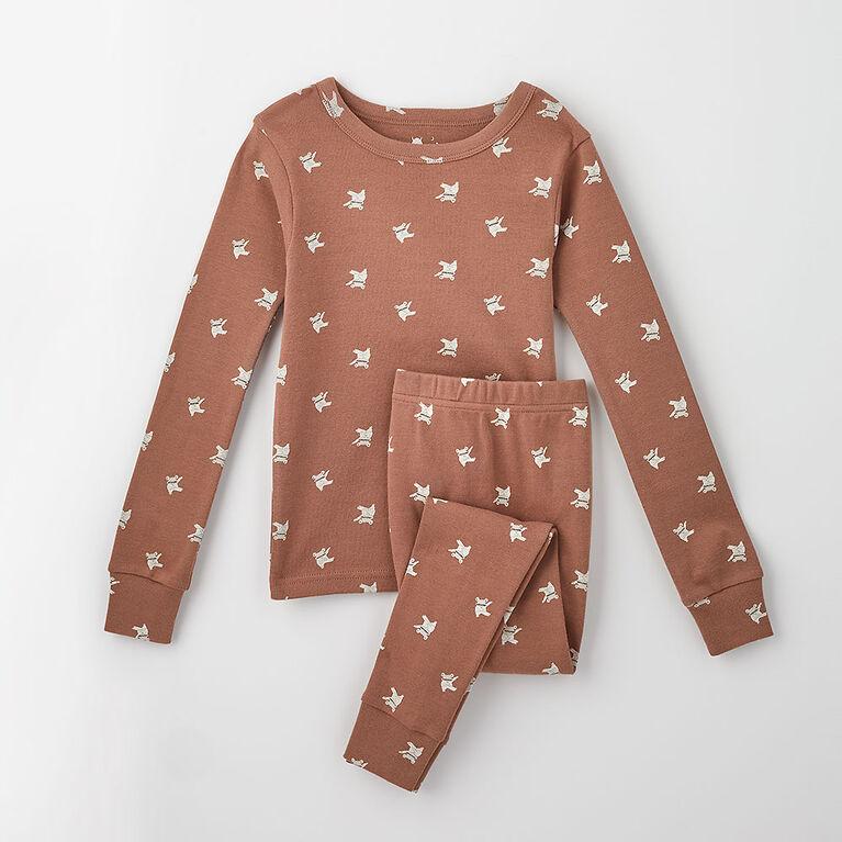 4 ans pyjama deux pièces en coton biologique - monstre/brownie
