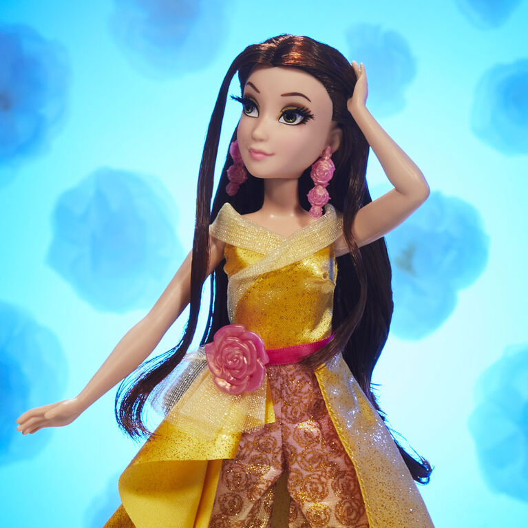 Disney Princess Style Series 08 Belle, Contemporary Style Fashion Doll with Accessories