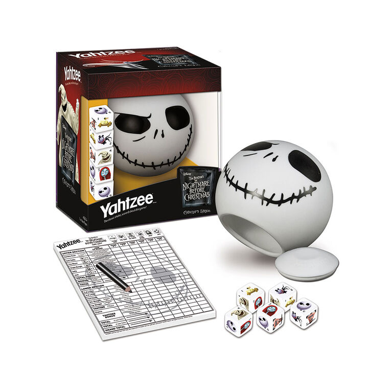 Yahtzee Game: Tim Burton's The Nightmare Before Christmas Collector's Edition Jack Skellington - English Edition