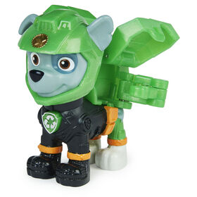 PAW Patrol, Moto Pups Rocky Collectible Figure with Wearable Deputy Badge
