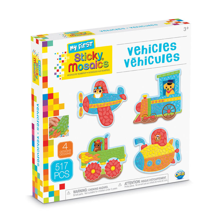 My First Sticky Mosaics Vehicles - R Exclusive