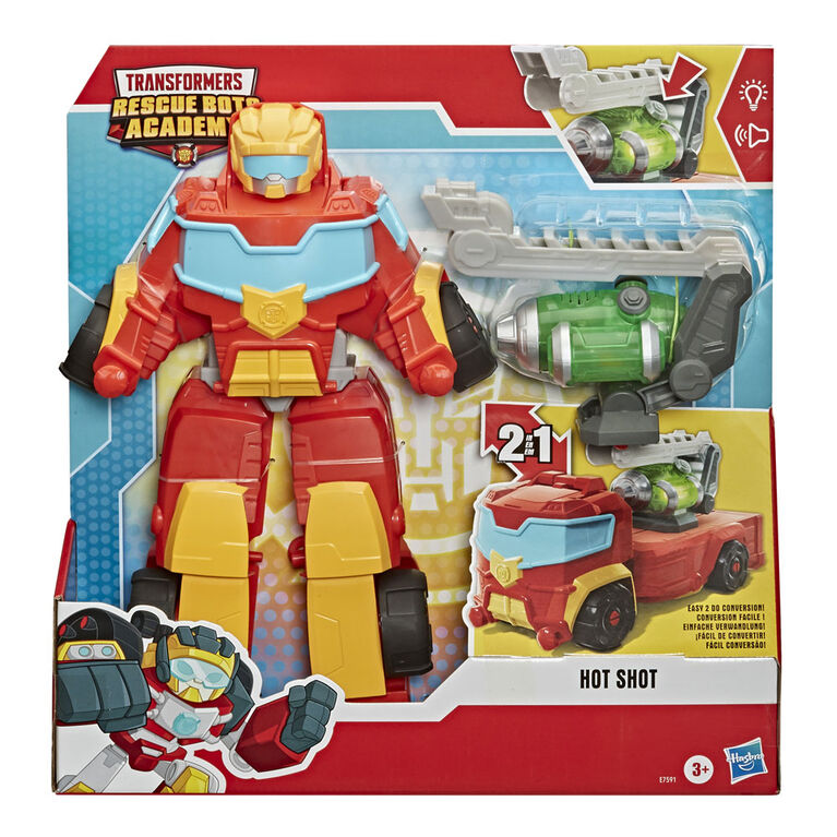 Playskool Heroes Transformers Rescue Bots Academy Rescue Power Hot Shot Converting Toy Robot