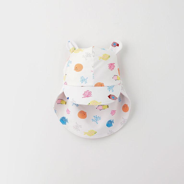 tp/p chapeau de bain à oreilles - blanc