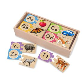 Melissa & Doug - Self Correcting Puzzle Card - Letters - English Edition
