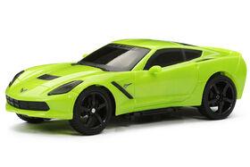 Corvette Stingray, voiture de sport toutes fonctions RC 1/24 New Bright.