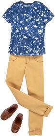 Barbie Ken Blue Print Shirt and Tan Pants Fashion Pack