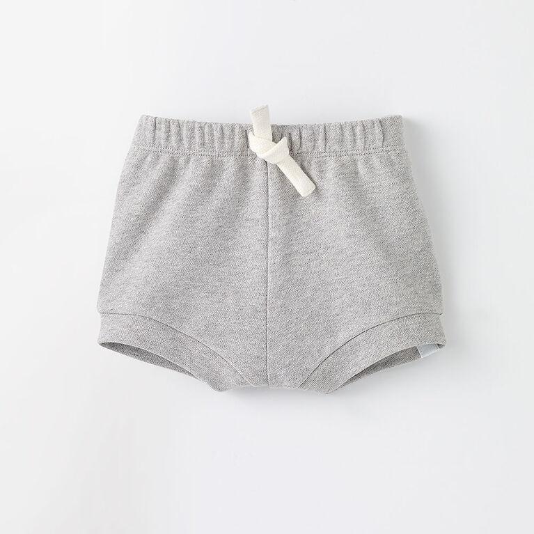 3-6m short bouffant en tricot - gris chiné