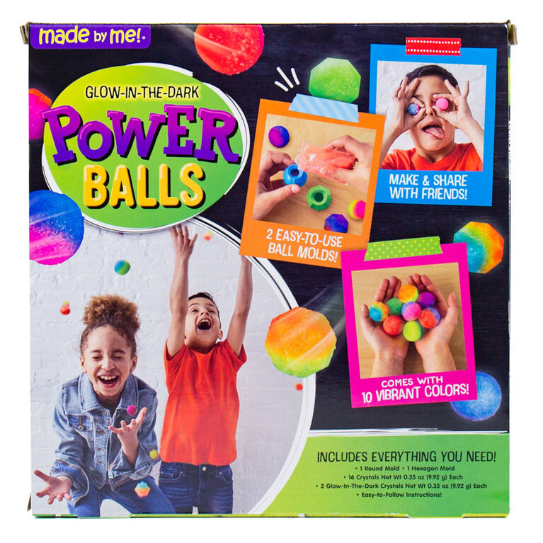 Made by Me Glow in the Dark Power Balls - English Edition
