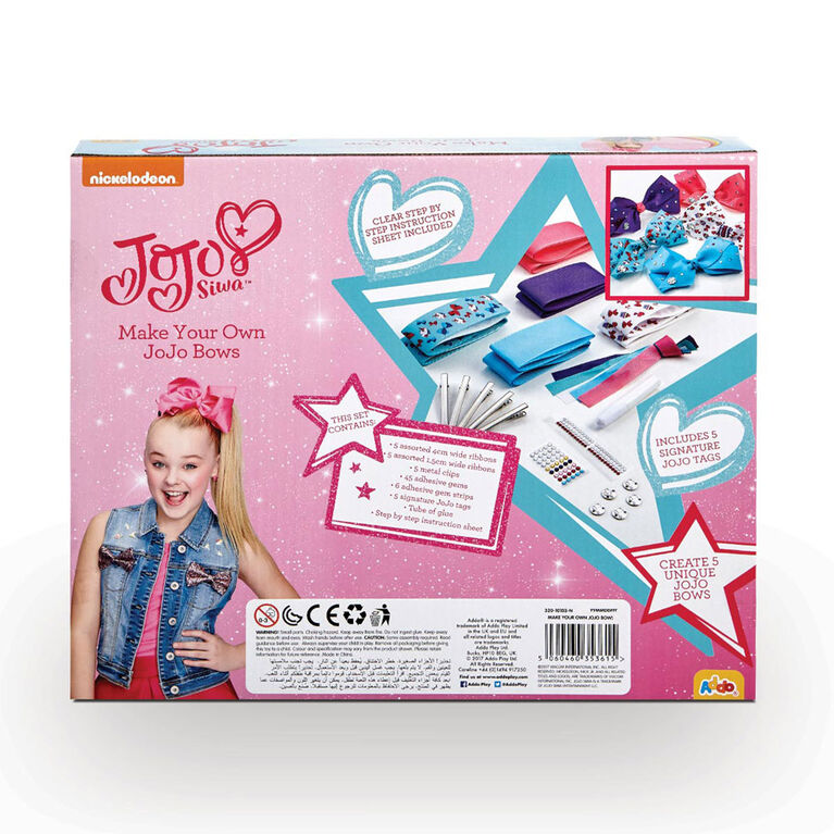Nickelodeon - Coffret JoJo Siwa Make Your Own Bows - Édition anglaise - Notre exclusivité
