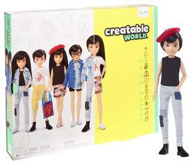 Creatable World Deluxe Character Kit Customizable Doll, Black Straight Hair