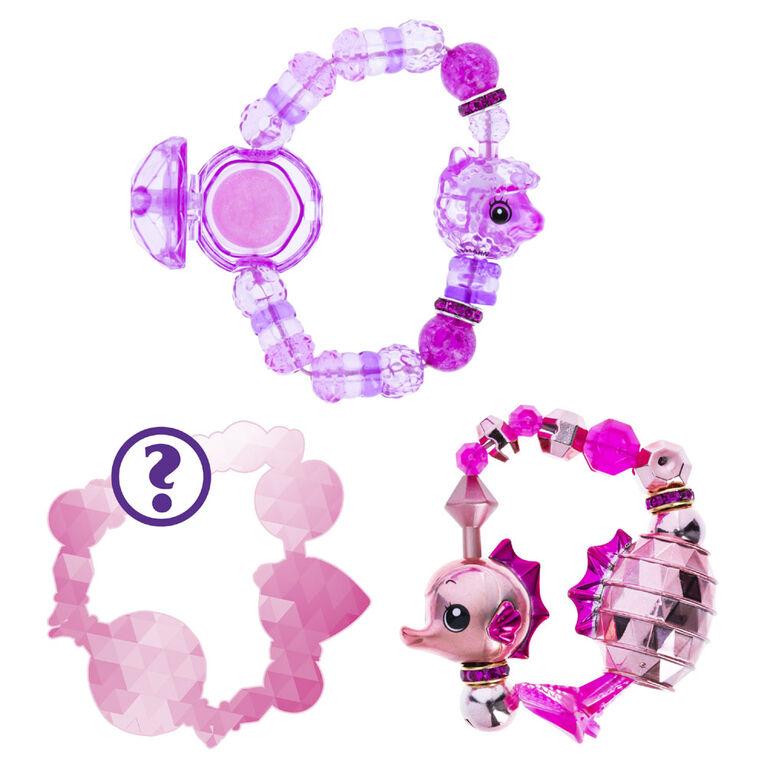 Twisty Petz, Série 4, Pack de 3 bracelets à collectionner Goldielove Seahorse, Allie Alpaca et modèle surprise