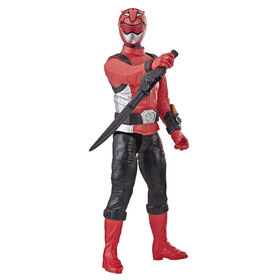 Power Rangers Beast Morphers - Figurine jouet de 30 cm Ranger rouge inspirée de la série télé Power Rangers.