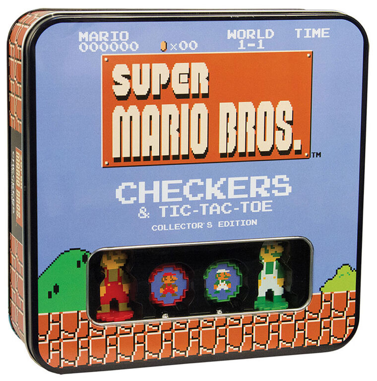 Super Mario Bros Checkers & Tic-Tac-Toe Game Collector'S Edition