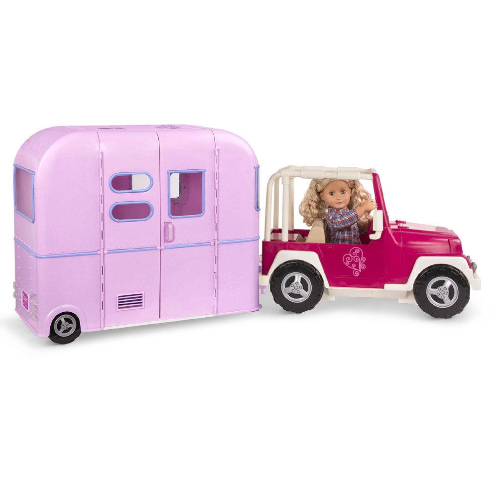 R.V. Seeing You Camper, Our Generation, Ensemble de caravane de camping pour poupées de 18 po