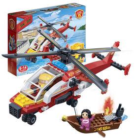 BanBao - Hélicoptère de Pompiers (7107)