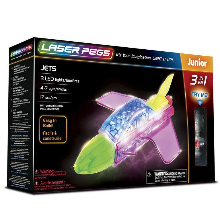 Laser Peg Jet 3-In-1 Building Sets